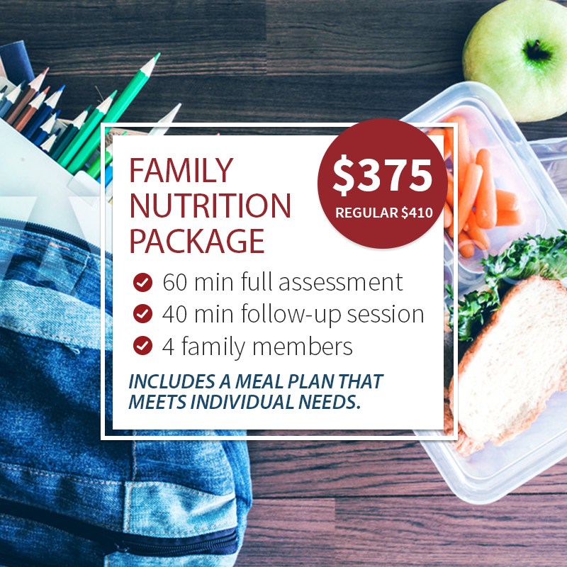 Family Program Special Promotion: 1x 60min full assessment and 1x 40-min follow-up session for $375. Up to 4 family members.
