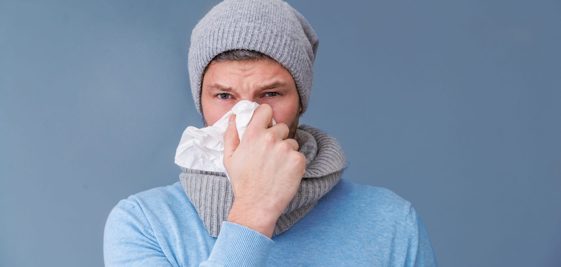 Man with a cold