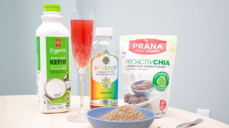 Kefir, kombucha and chia