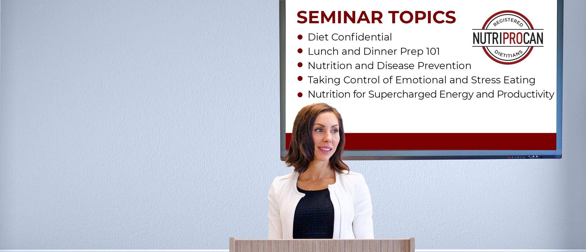 NutriProCan Wellness Seminars