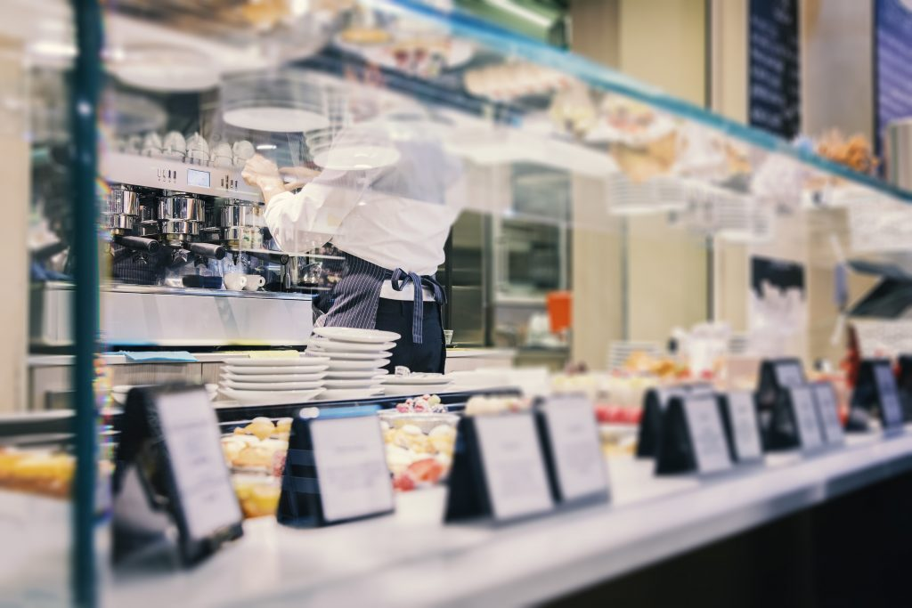 A PICTURE OF A FOOD SERVICE COUNTER