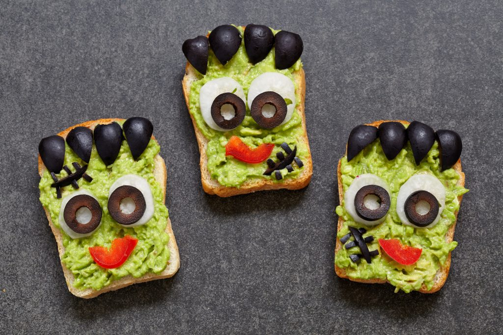 Frankestein face Avocado toast