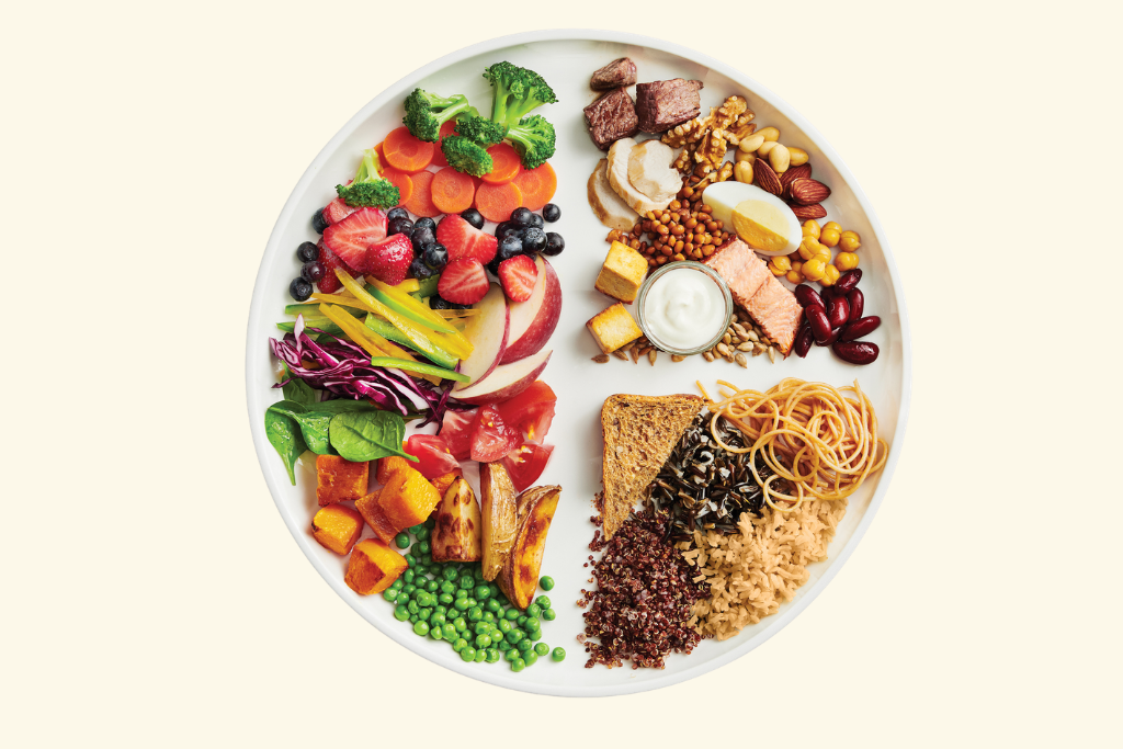 Canadas food guide plate image